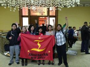 Anakbayan NJ waiting to enter the City Hall Chambers. Photo by Jan Aguilos