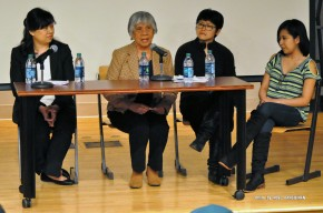 Atty. Cris Godinez, Edna Sabino, Chia-chia Wang, Catalina Adorno (from left to right)