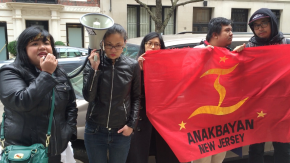 Ruthie Arroyo speaking on behalf of Anakbayan NJ.